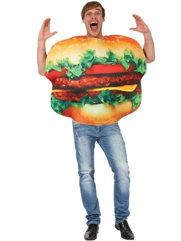 "Novelty: Burger - Adult Costume (Size: 36-46"" Chest)`"