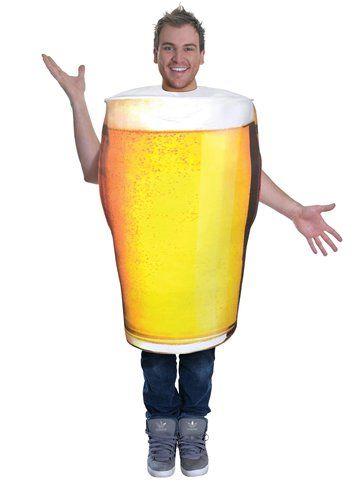 "Novelty: Pint of Beer - Adult Costume ( Size: 36-42"" Chest )"