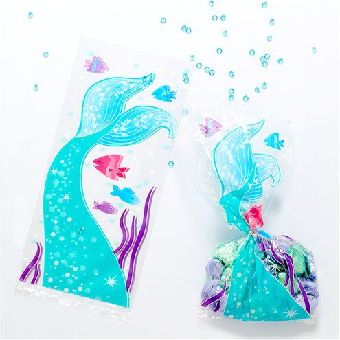 Party Bags: Magical Mermaid Cello Bags x20pk