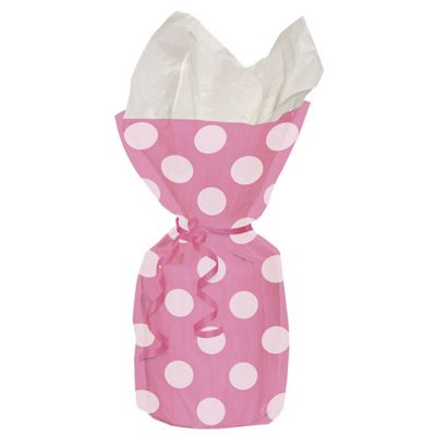 Party Bags: Pink Polka Dots Cello Party Bags (20pk)