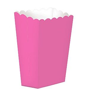 Party Box: Hot Pink Small Popcorn Boxes - 13cm x5pk