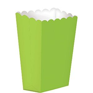 Party Box: Lime Green Small Popcorn Boxes - 13cm x5pk