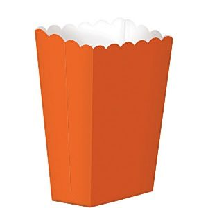 Party Box: Orange Small Popcorn Boxes - 13cm x5pk