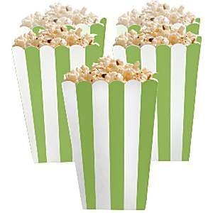 Party Boxes: Candy Buffet Popcorn Boxes - Kiwi (5pk)