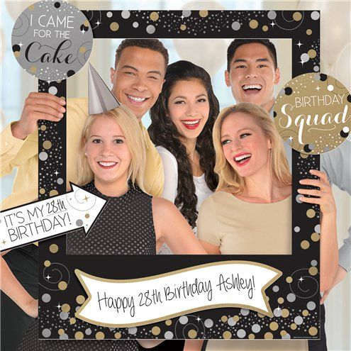 Photo Booth: Sparkling Celebration Add an Age Giant Photo Frame with Props