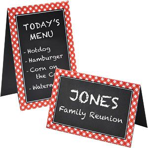 Place Cards: Picnic Party Chalkboard Place Cards - 15cm (8pk)