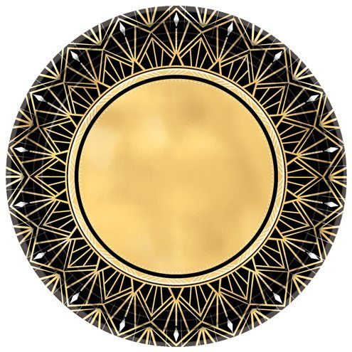 Plates: Hollywood Metallic Plate - 26cm Paper Plate x8pk