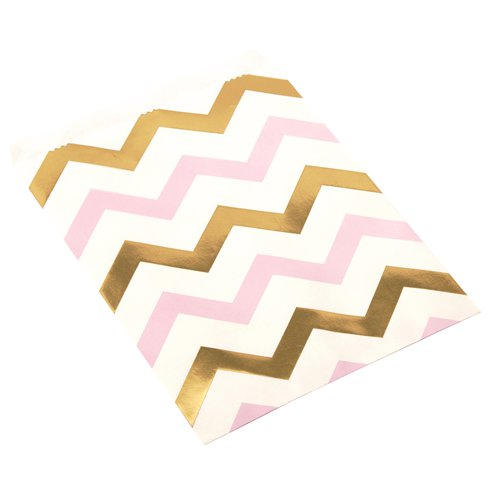 Sweet Bags: Pattern Works Pink Chevron Sweet Bags x25pk