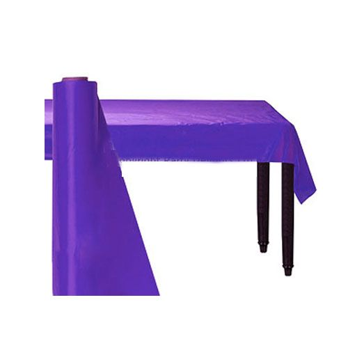 Table Cloth: New Purple Party Plastic Table Roll 30m (100ft) (each)