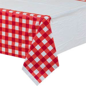 Tablecloth: Picnic Party Plastic Tablecover - 1.37m x 2.6m