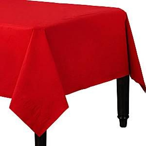 Tablecloth: Red Tablecover - 3ply Paper - 1.4m x 2.8m